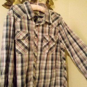 American Rag Cie L/S Plaid Button Up Shirt